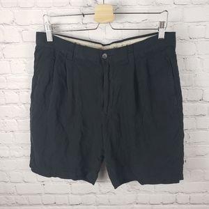 Tommy Bahama Relax Black 100% Silk Golf Shorts